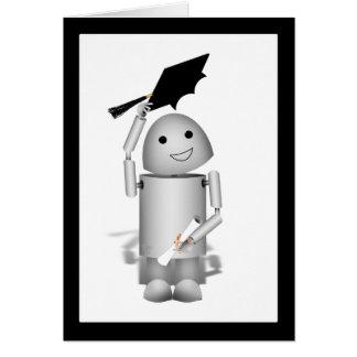 Lil Robox9 student - lock av! Hälsningskort