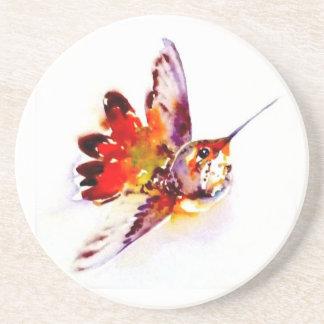"""""""Lil rött"""" Hummingbirdtryck på Glasunderlägg"""