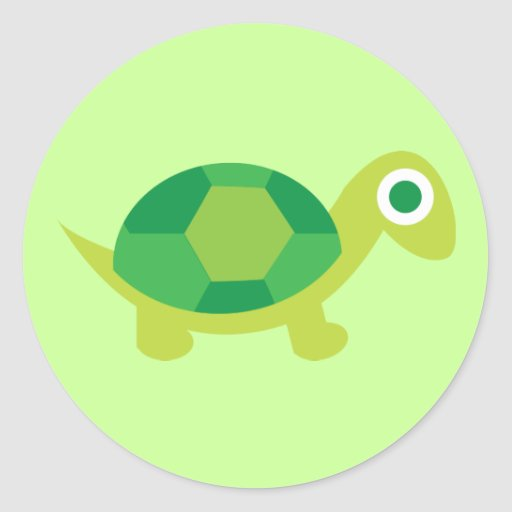 Lil sköldpaddagrabb rund klistermärke