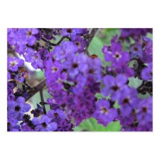 Lila blommor som handlar kortet visit kort