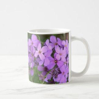 Lila blommormugg kaffemugg