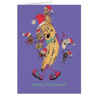 """Lila Crunchy"""" julkort Hälsningskort"""