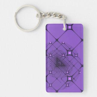 Lila fractal nyckelring