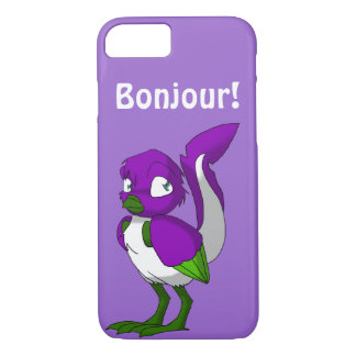 Lila-/grönt-/vitReptilianfågel Bonjour