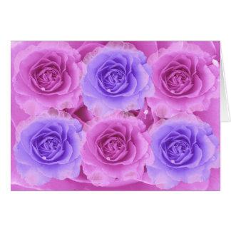Lila- och blåttrokort hälsningskort