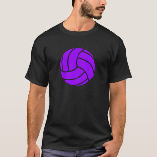 Lila- och svartvolleybollmanar T-tröja T Shirts
