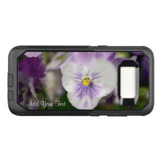 Lila- och vitViolas av Shirley Taylor OtterBox Commuter Samsung Galaxy S8 Skal