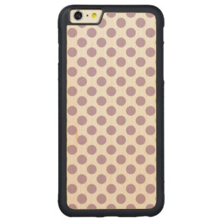 Lila polka dots carved lönn iPhone 6 plus bumper skal