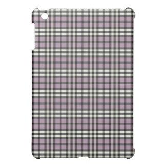 Lila/svart pläd Pern iPad Mini Skydd