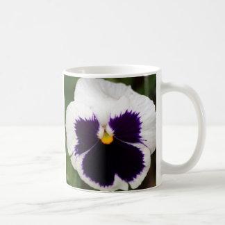 Lila- & vitPansy Kaffemugg