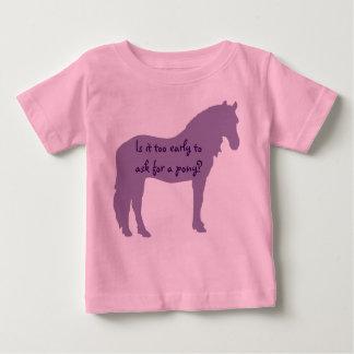 Lilababyen önskar ponnyn tee