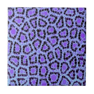 Lilablåttcheetahen cirklar abstrakt kakelplatta