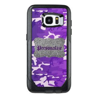 Lilakamouflage OtterBox Samsung Galaxy S7 Edge Skal