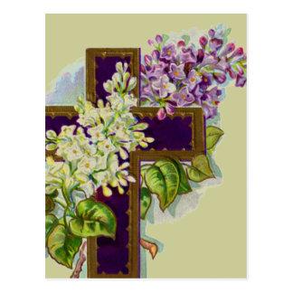 Lilakor med blommor vykort