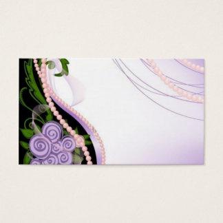 Lilan och rosan pryder med pärlor blommor visitkort