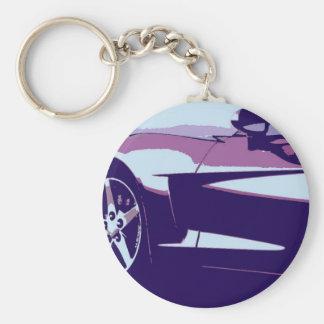 Lilapopkonst Corvette Rund Nyckelring
