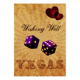 lilatärningvintage Vegas som önskar det väl kortet Set Av Breda Visitkort