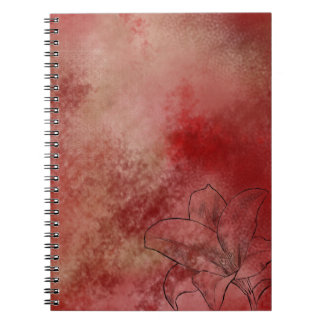 Lilja i rosor anteckningsbok