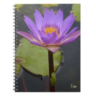 Lilja och grodan anteckningsbok