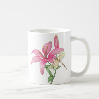 Lilja och slända kaffemugg