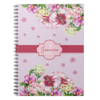 Lilja- & pionblommigtlilor anteckningsbok