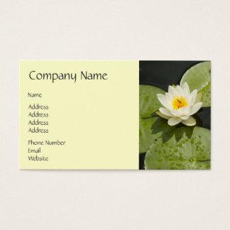 Liljadynor och vitlotusblommablomma visitkort