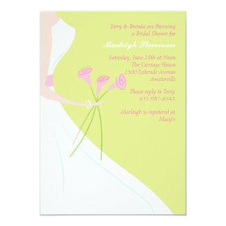Liljainbjudningskort för möhippan för rosa Calla 12,7 X 17,8 Cm Inbjudningskort