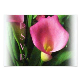 LiljaOSA kort för rosa Calla 8,9 X 12,7 Cm Inbjudningskort