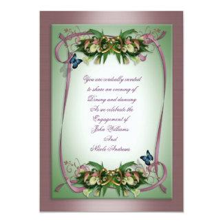 Liljar för calla för inbjudanbröllopförlovning 12,7 x 17,8 cm inbjudningskort