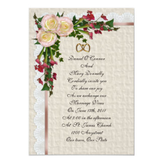 Liljar för för bröllopinbjudanro och Calla 12,7 X 17,8 Cm Inbjudningskort