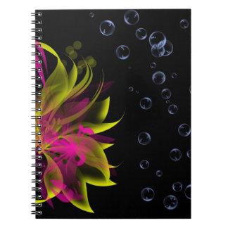 Liljar N bubblar anteckningsboken Anteckningsbok