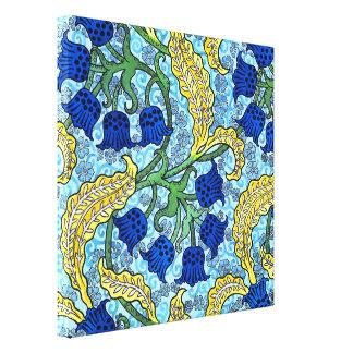 Liljekonvaljen blommar art nouveau canvastryck
