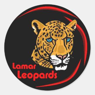 Lilla Lamar Leopardsklistermärkear - Runt Klistermärke