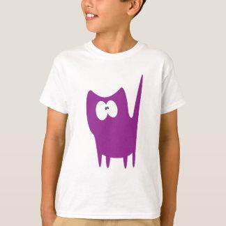 Lilla stås purpurfärgade Wtf för katt ögon T Shirts
