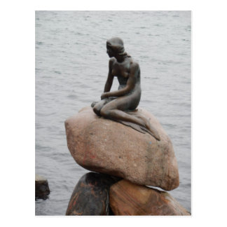 Lillehavefru lite sjöjungfruKöpenhamn Danmark Vykort