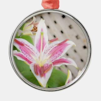 Lilly för en bot…, Bröstcancermedvetenhet Julgransprydnad Metall