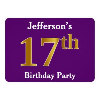 Lilor 17th födelsedagsfest för Fauxguld; 12,7 X 17,8 Cm Inbjudningskort