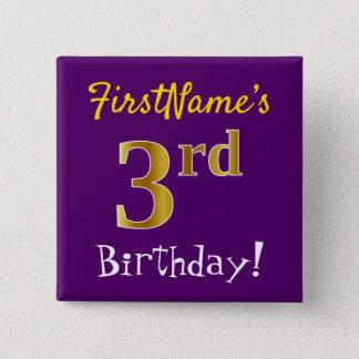 Lilor 3rd födelsedag för Fauxguld, med Standard Kanpp Fyrkantig 5.1 Cm