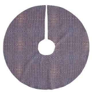 Lilor anodiserat Titanium ringbrynjametallpansar Julgransmatta Borstad Polyester