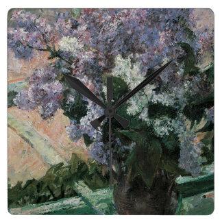 Lilor av Mary Cassett Fyrkantig Klocka