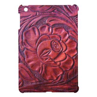 Lilor bearbetat fodral för läderiPadkortkort iPad Mini Mobil Skydd