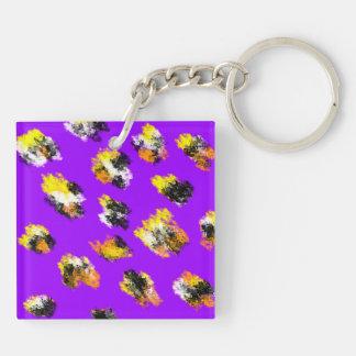 Lilor befläckt tvåsidig keychain.