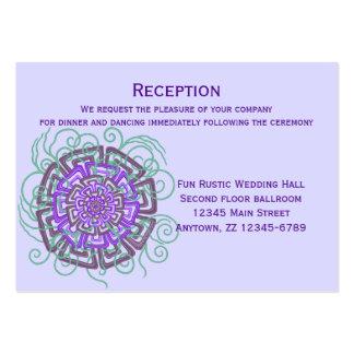 Lilor blommar modernt lantligt blom- bröllop set av breda visitkort