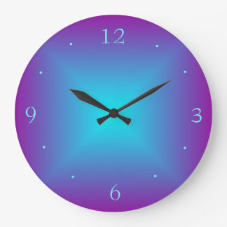 Lilor/den upplyst utskrivavna designväggen för stor klocka