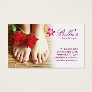 Lilor för blomma för Pedicure för nagelsalongSpa Visitkort