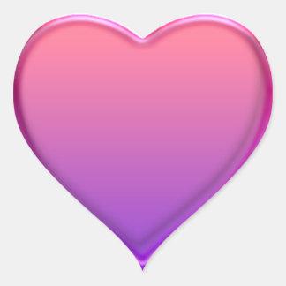 Lilor för hjärtaklistermärkerosor hjärtformat klistermärke