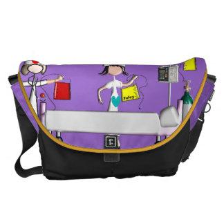 Lilor för plats för sjuksköterskamessenger bagsjuk kurir väska