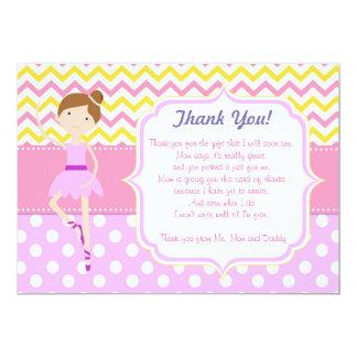Lilor för rosor för kort för Ballerinababy 12,7 X 17,8 Cm Inbjudningskort