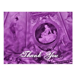 Lilor för tackvintagecameo vykort