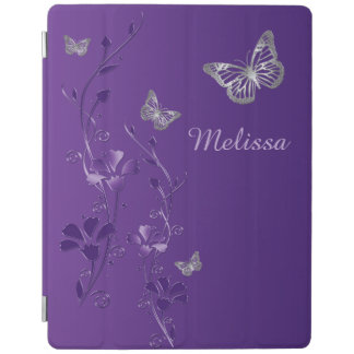 Lilor försilvrar fjärilar, blom- iPad 2/3/4 täcker iPad Skydd